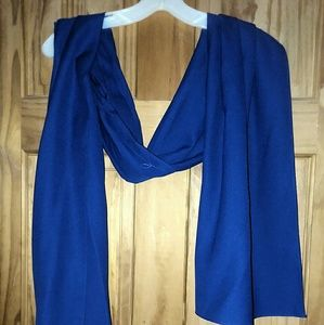 Jordan Vintage Royal Blue Dress Sash Wrap